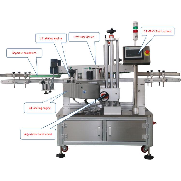 Detalls de la màquina d'etiquetatge automàtic de cantonades de caixa de cartró