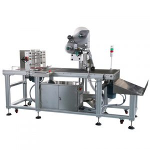 Round Jar Two Labels Top Side Labeling Machine