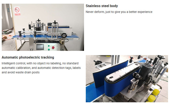 Detalls de la màquina d'etiquetatge automàtic d'ampolles de sobretaula